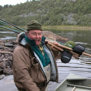 a man and his salmon rods