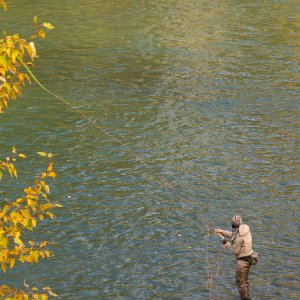 Angler fishing the Pipeline run