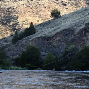 Long cast on the Deschutes