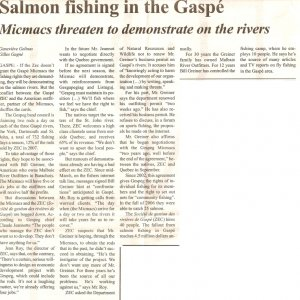 Gaspe Salmon - Spec Article